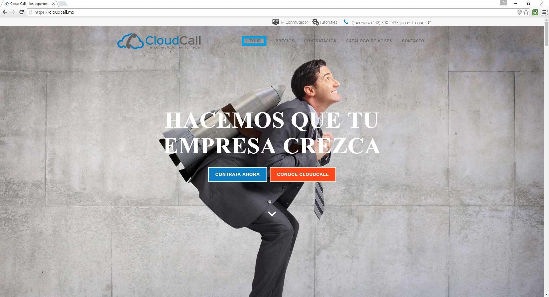 Pagina principal de CloudCall