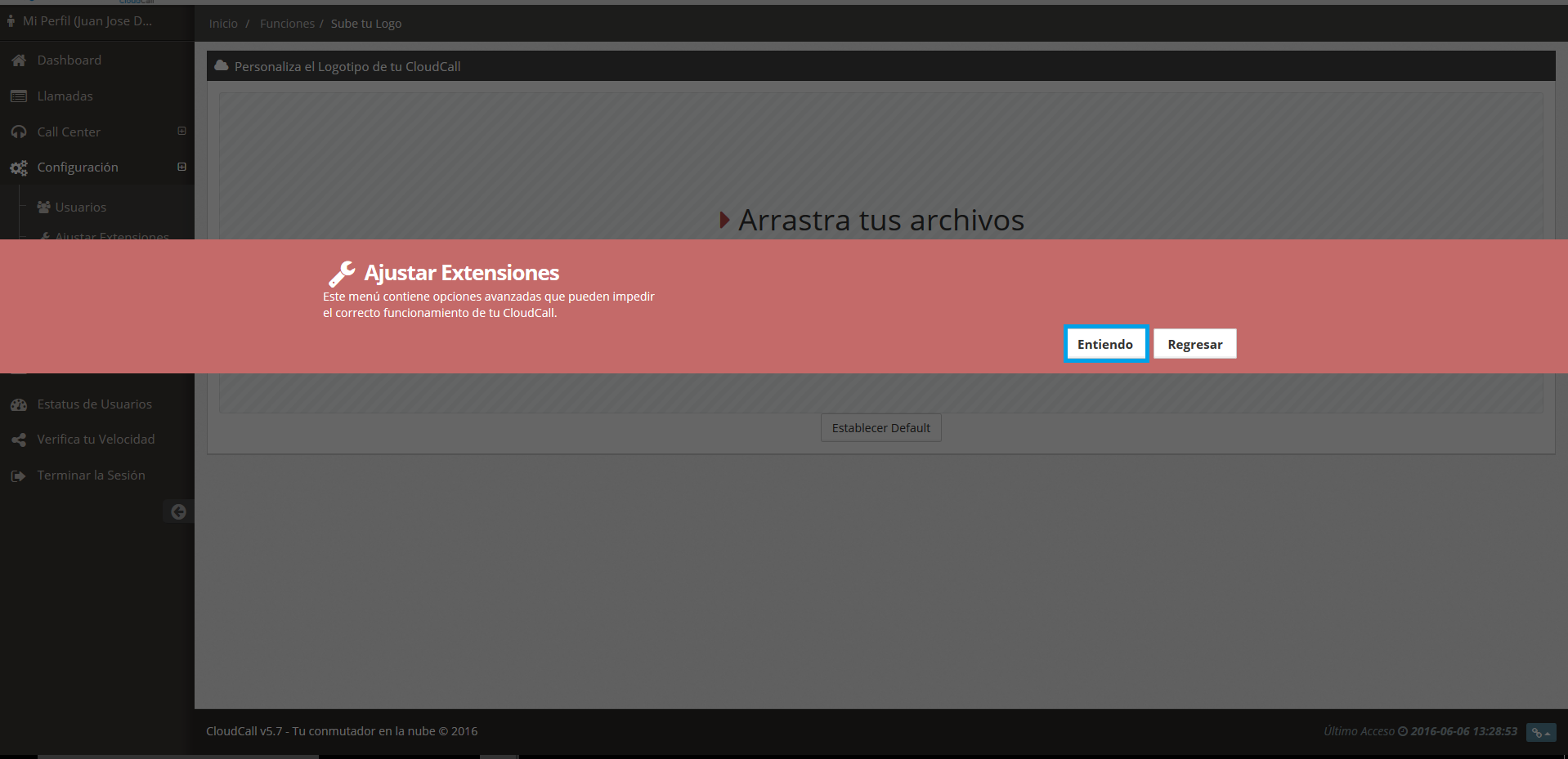 Cómo configurar extensiones en CloudCall