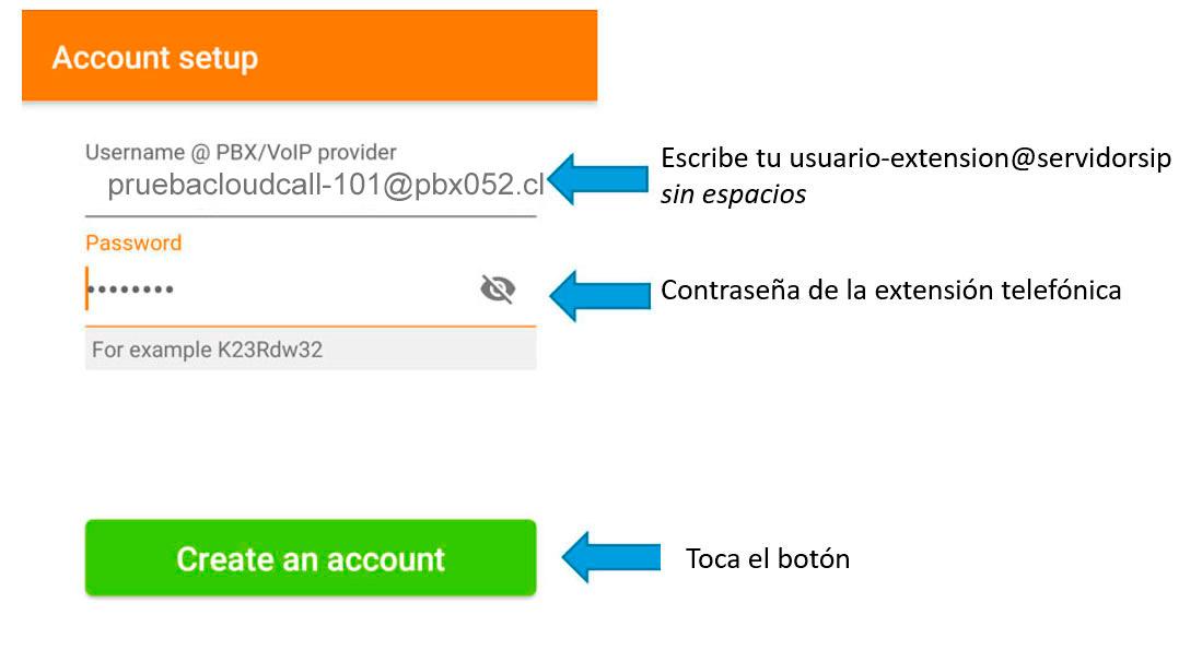 configurar zoiper android account setup