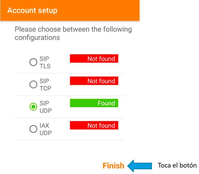 configurar zoiper android test