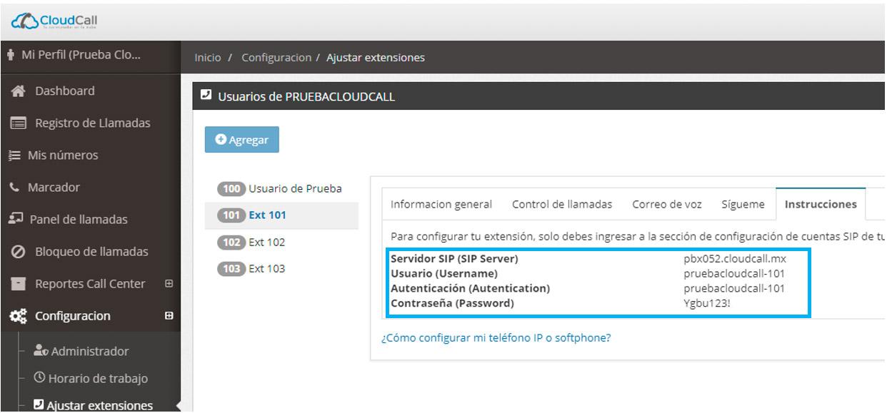Configurar Zoiper Windows extension