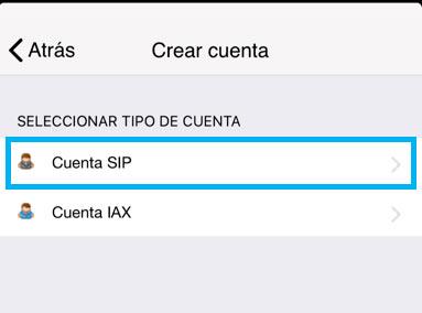 configurar zoiper iphone camara cuentas cuenta sip