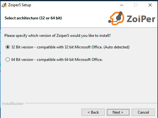 instalar zoiper windows arquitectura