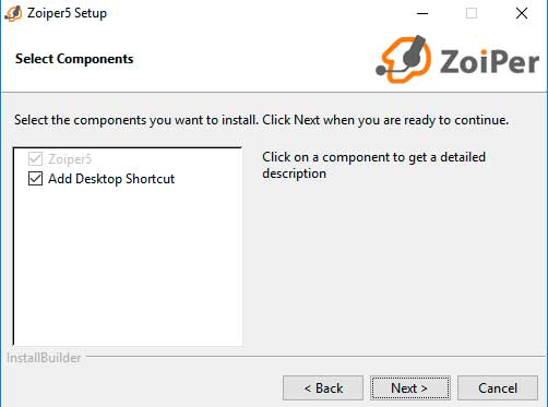 instalar zoiper windows componentes