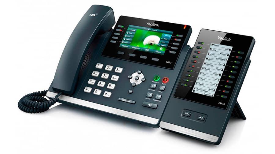 Telefono T46S EXP40 para recepcionista